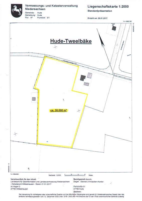Flaeche-Landwirtschaft-Hude-Tweelbaeke